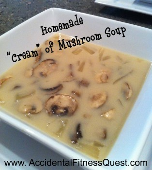 Cream of Mushroom Soup Without The Cream