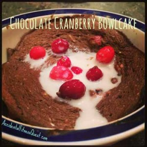 Chocolate Cranberry Bowlcake
