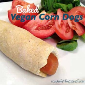 Baked Vegan Corn Dogs