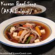 Korean Beef Soup (AKA Bulgogi)
