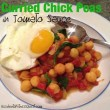 Curried Chick Peas in Tomato Sauce