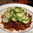Saffron Quinoa with Zucchini Ribbons