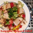 Gazpacho Chopped Salad with Grilled Chicken and Sourdough Croutons