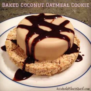 Baked Coconut Oatmeal Cookie
