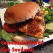 Cornmeal Crusted Fish Sandwich
