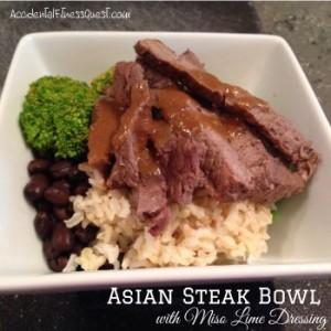 Asian Steak Bowl - Miso Lime Dressing
