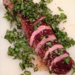 Spice Rubbed Pork Tenderloin with Fresh Herb Crust
