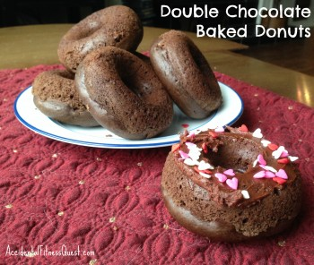 Double Chocolate Baked Donuts