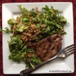 Flat Iron Steaks with Whole Grain Arugula Salad