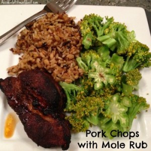 Pork Chops with Mole Rub