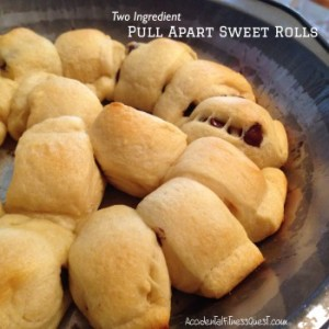 Two Ingredient Pull Apart Sweet Rolls