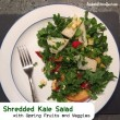 Shredded Kale Salad with Spring Fruits and Veggies