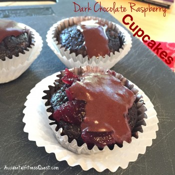 Dark Chocolate Raspberry Cupcakes