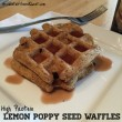 High Protein Lemon Poppy Seed Waffles
