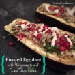 Roasted Eggplant with Pomegranate and Cumin Tahini Cream
