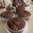 Chocolate Cherry Protein Muffins