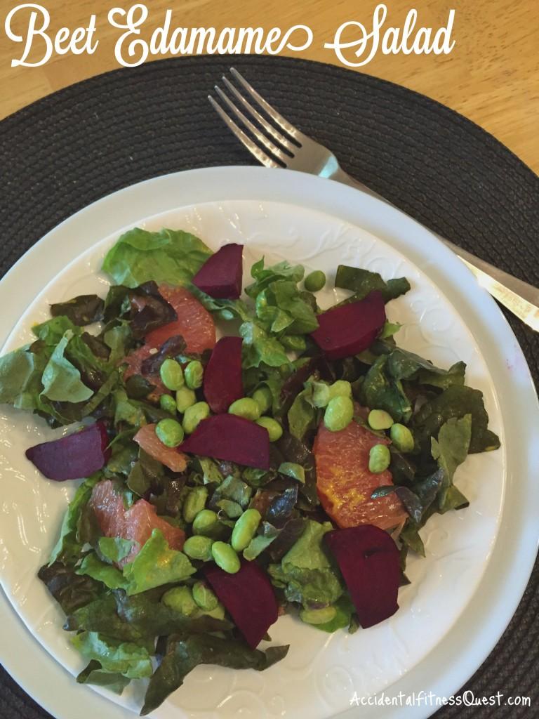 Beet Edamame Salad